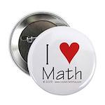 """I Love Math! 2.25"""" Button (10 pack)"""