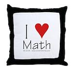 I Love Math! Throw Pillow