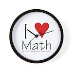 I Love Math! Wall Clock