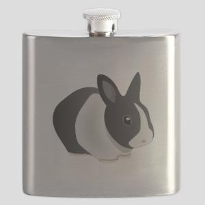 Dutch Black and White Rabbit Flask