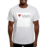 I Love Math! Ash Grey T-Shirt
