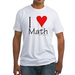 I Love Math! Fitted T-Shirt