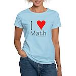 I Love Math! Women's Pink T-Shirt