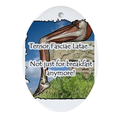 TFL Not for breakfast anymore Oval Ornament