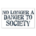 Danger To Society Rectangular Sticker