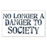 Danger To Society Rectangular Sticker