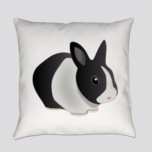 Dutch Black And White Rabbit Everyday Pillow