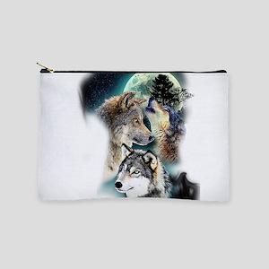 Wolf Wolves Moon Makeup Bag