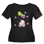 Its A Ba Women's Plus Size Scoop Neck Dark T-Shirt