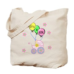 Its A Baby Girl Tote Bag
