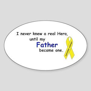 my fathers a hero Oval Sticker