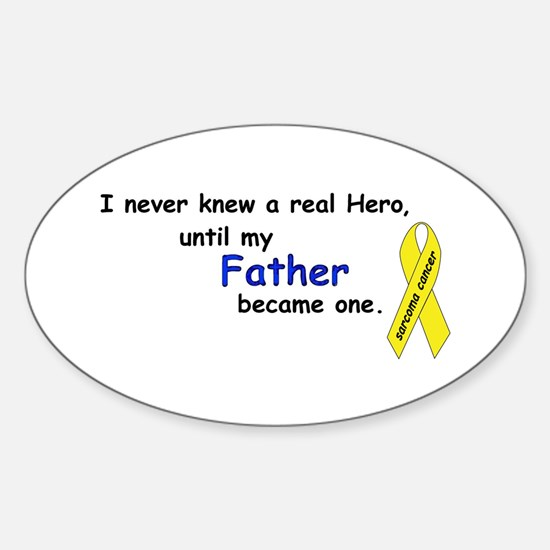 my fathers a hero Oval Decal