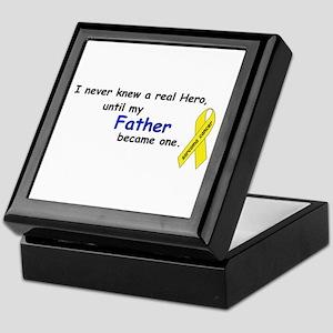 my fathers a hero Keepsake Box