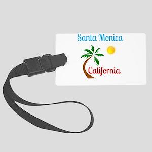Santa Monica California Palm Tre Large Luggage Tag