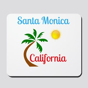 Santa Monica California Palm Tree and Su Mousepad