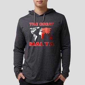 The Great Malta Designs Mens Hooded Shirt