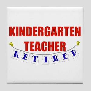 Retired Kindergarten Teacher Tile Coaster