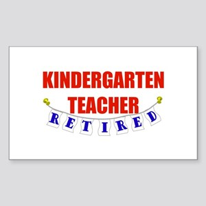 Retired Kindergarten Teacher Rectangle Sticker