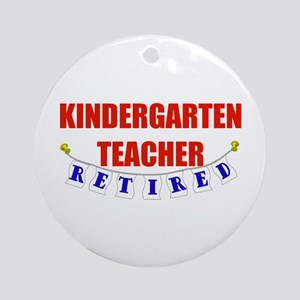 Retired Kindergarten Teacher Ornament (Round)