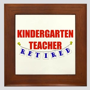 Retired Kindergarten Teacher Framed Tile