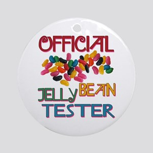 Jelly Bean Tester Ornament (Round)