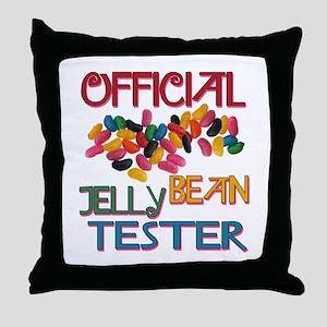 Jelly Bean Tester Throw Pillow