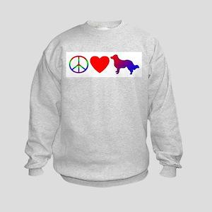 Peace Love English Shepherd Kids Sweatshirt