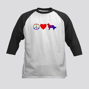 Peace Love English Shepherd Kids Baseball Jersey