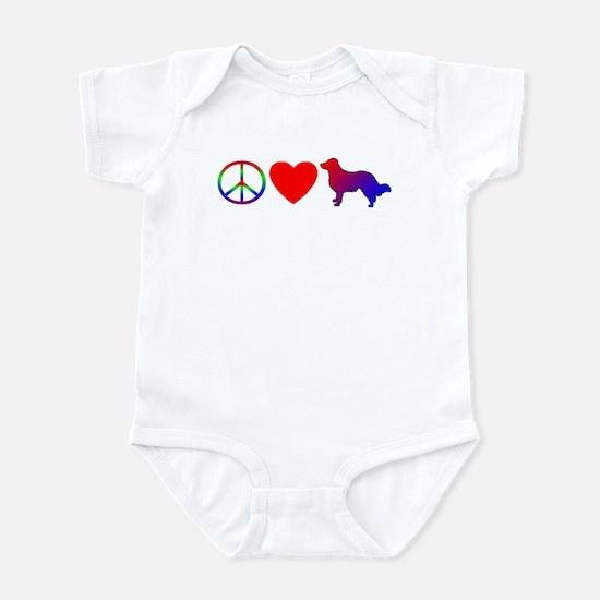 Peace Love English Shepherd Infant Bodysuit