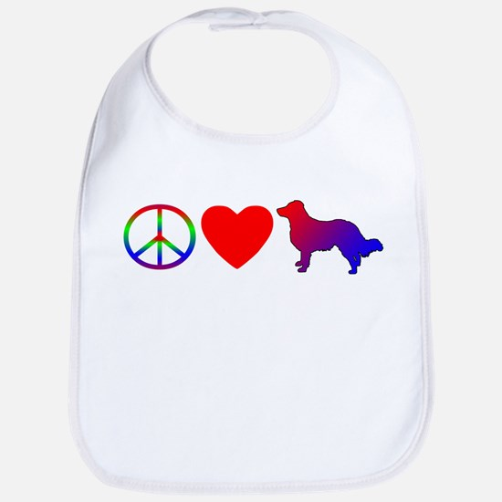 Peace Love English Shepherd Bib