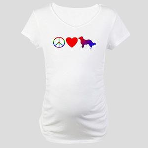 Peace Love English Shepherd Maternity T-Shirt