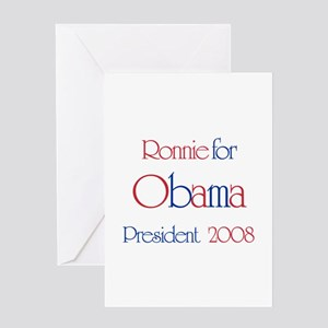 Ronnie for Obama 2008 Greeting Card