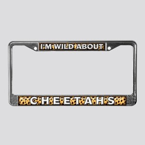 Fur Pattern Cheetah License Plate Frame