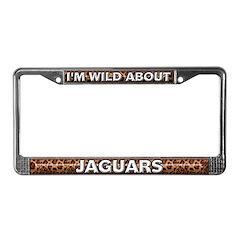Fur Pattern Jaguar License Plate Frame