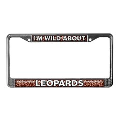 Fur Pattern Leopard License Plate Frame
