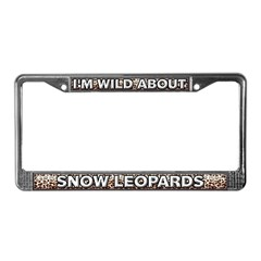 Fur Pattern Snow Leopard License Plate Frame