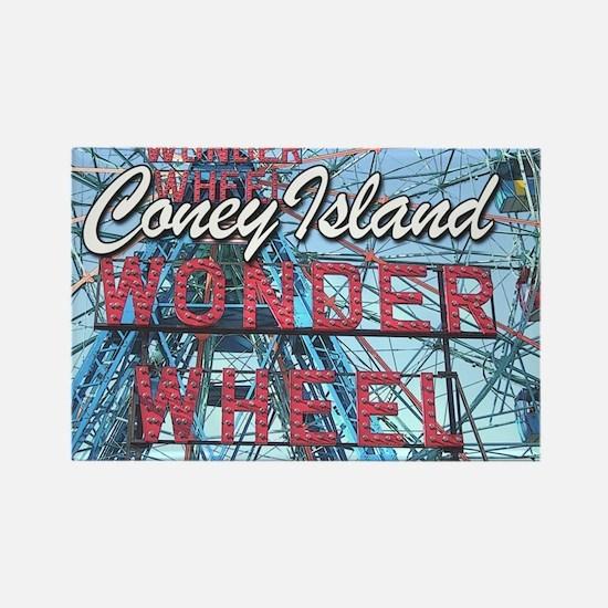 Coney Island Wonder Wheel Rectangle Magnet