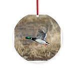 Mallard Flying Ornament (Round)