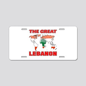 The Great Lebanon Designs Aluminum License Plate