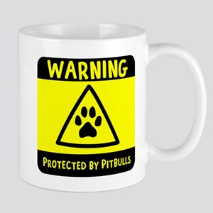 Protected by Pitbulls 11 oz Ceramic Mug