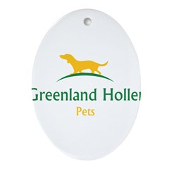Greenland Holler Pets Oval Ornament