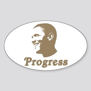 Obama for Progress Oval Sticker