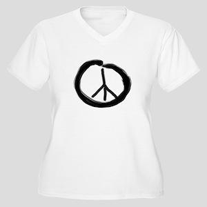 EnsoPeace Women's Plus Size V-Neck T-Shirt