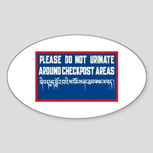 Do Not Urinate Around Checkposts, Bhutan Sticker (