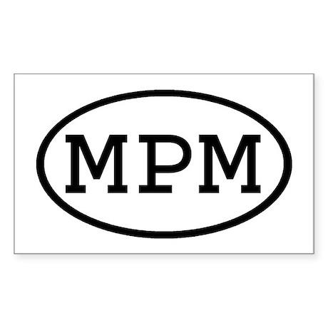 MPM Oval Rectangle Sticker