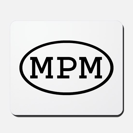 MPM Oval Mousepad
