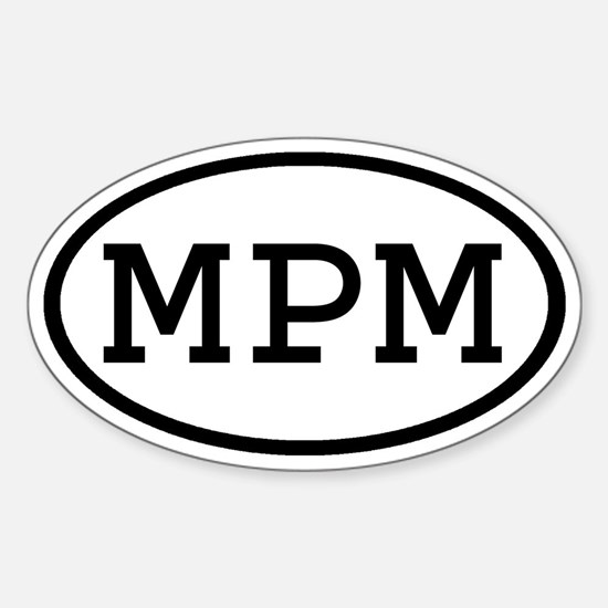 MPM Oval Oval Decal