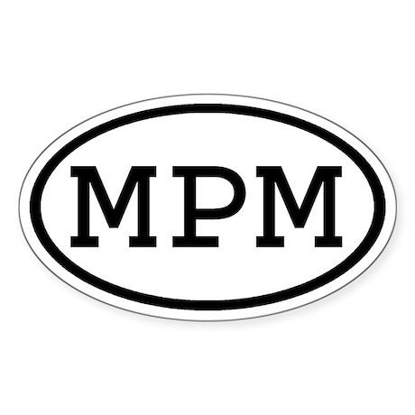 MPM Oval Oval Sticker