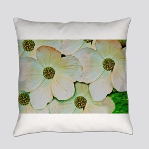 Wild White Blossoms Everyday Pillow