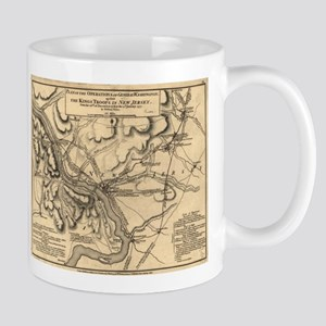 George Washington Trenton NJ Battlefield Map Mugs